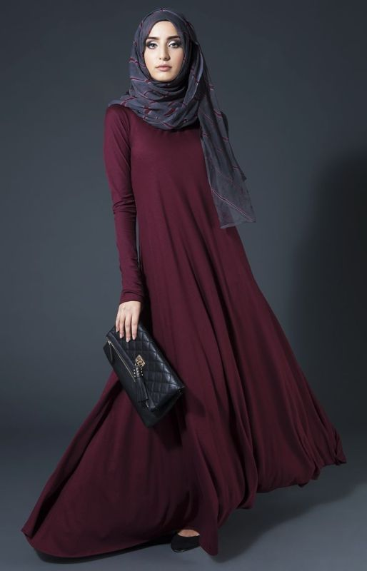 Maroon Abaya for Women
