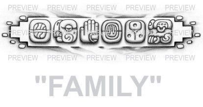 Family mayan glyphs tattoo design c aztec tattoos for Aztec tattoo shop phoenix az