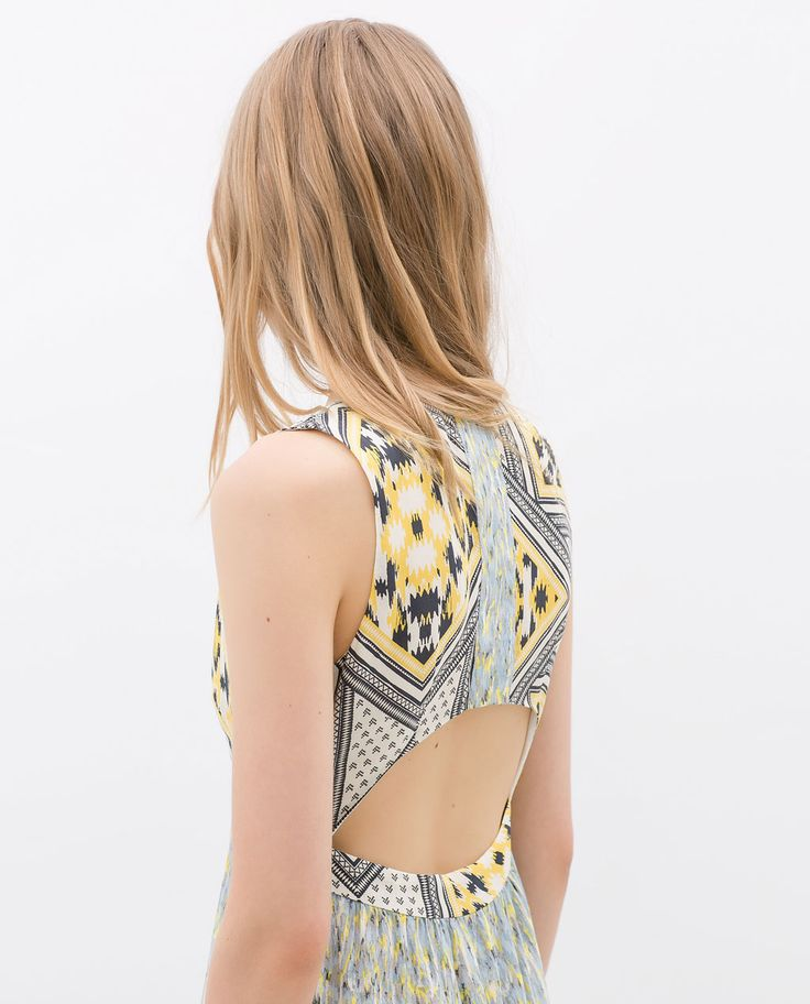 zara new this week combined maxi dress kleider