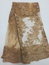 2016 vendita calda solubile in acqua di tulle del poliestere tessuto del merletto per il vestito, abbigliamento cucito tessuto africano, francese sexy tessuti Vs-d3012