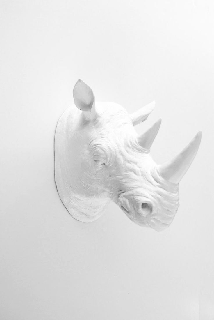 135 best wild and woolly faux taxidermy and everything rhino images on pinterest deer bedroom - Fake stuffed moose head ...