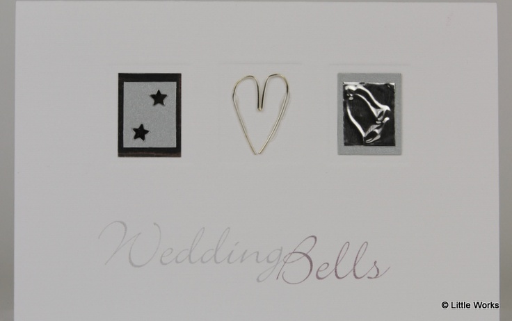 Wedding Bells wedding card, hand made wire embellishment