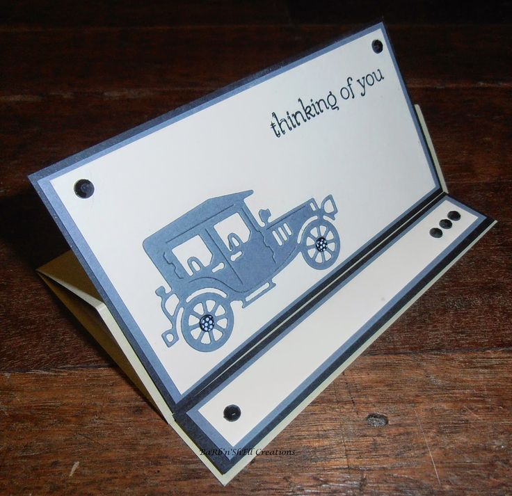 BaRb'n'ShEll Creations -Crafty Ann Die - Old Car Masculine Card - made by Shell