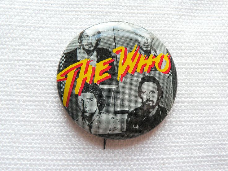 Vintage Early 80s The Who with Kenney Jones - Pin / Button / Badge by beatbopboom on Etsy