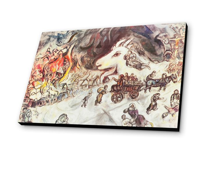 War 1966 by marc chagall graphic art plaque war chagall for Chagall mural chicago