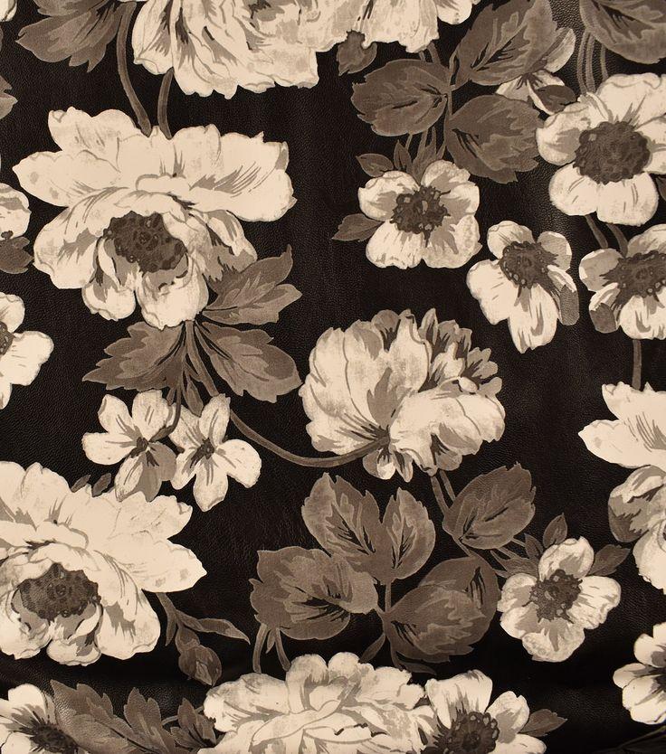 Pleather Fabric 53\u0022-Floral,