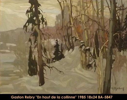 Original oil painting on canevas by Gaston Rebry #gastonrebry #art #fineart #figurativeart #artist #canadianartist #quebecartist #originalpainting #oilpainting #naturescene #landscape #frozen #forest #balcondart #multiartltee