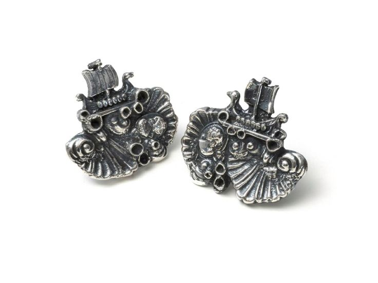 Ships of love and war cufflinks by Emgee