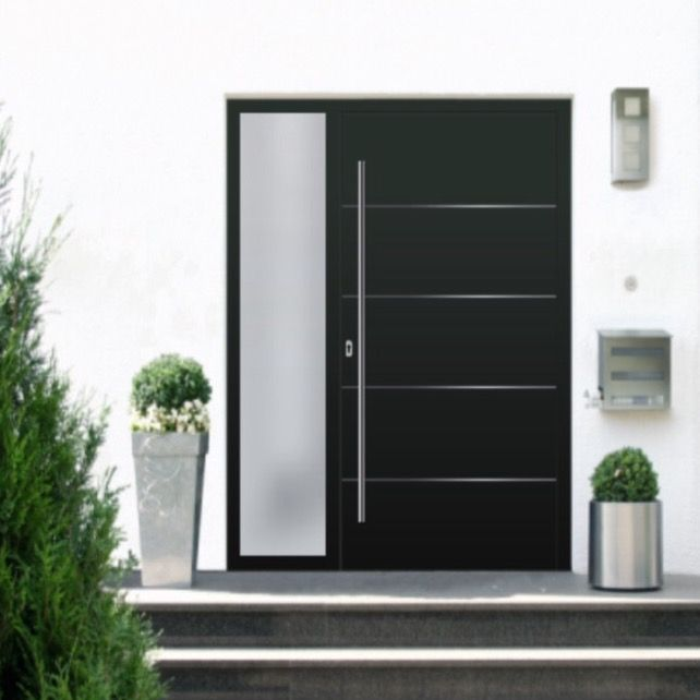 Türkonfigurator Obuk Haustür schwarz anthrazit modern