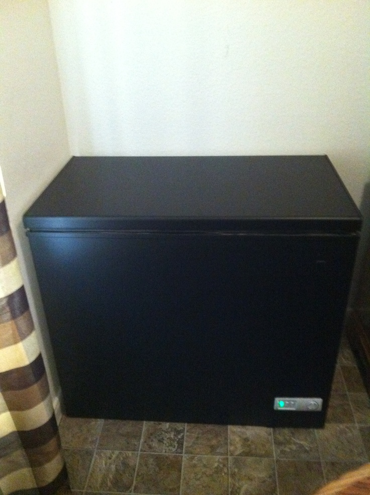Took My White Deep Freezer And Painted It With Chalkboard