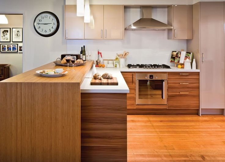 Kaboodle Kitchen - Contrast and Compliment, Available at Bunnings #mixandmatch #woodgrain #texture
