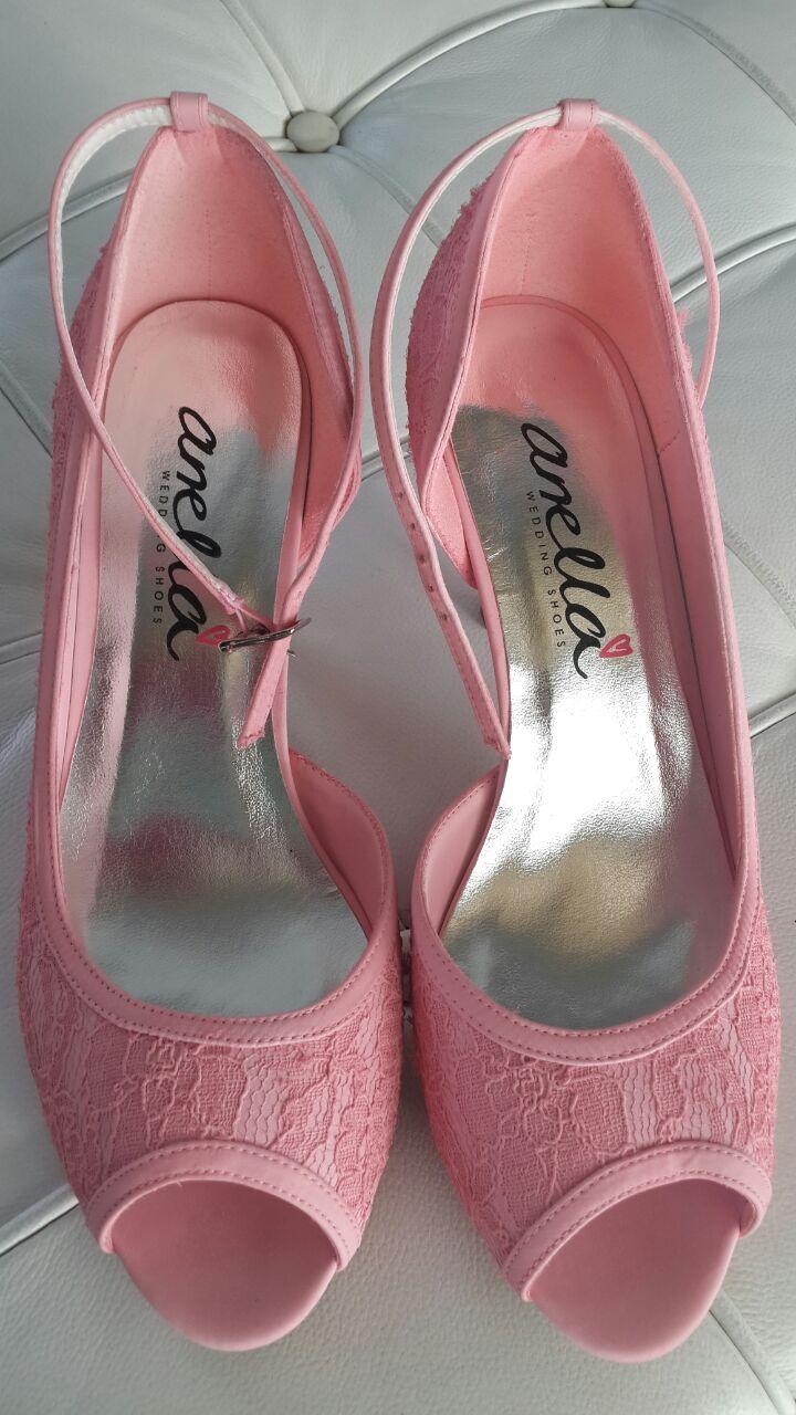 Abigail style #AnellaWeddingShoes dyed pink www.weddingshoes.co.za
