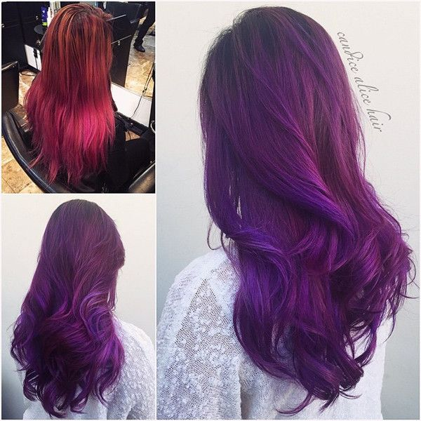 Purple ombre for dark hair girls choice, my favorite hair color style with hair estensions