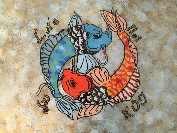 A personal favorite from my Etsy shop https://www.etsy.com/listing/385459140/lets-not-be-koi