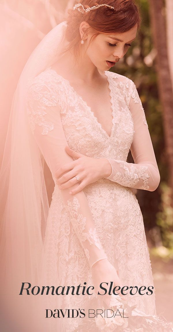 Discover gorgeous wedding dresses with sleeves at David's Bridal. Long lace sleeves are trending right now, and for good reason—they add elegance to any bridal look.