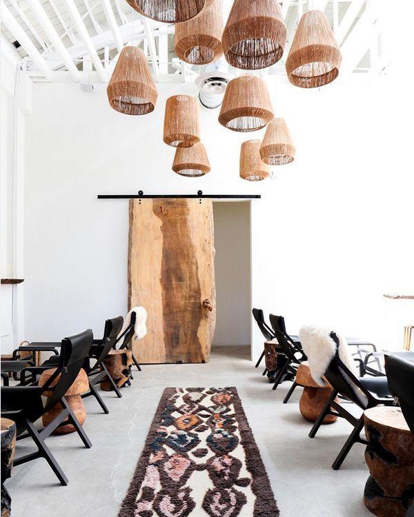 Ambiance épurée et ethnique dans ce Spa Boho Chic à Los Angeles – – Eclectic / Boho chic Home Design