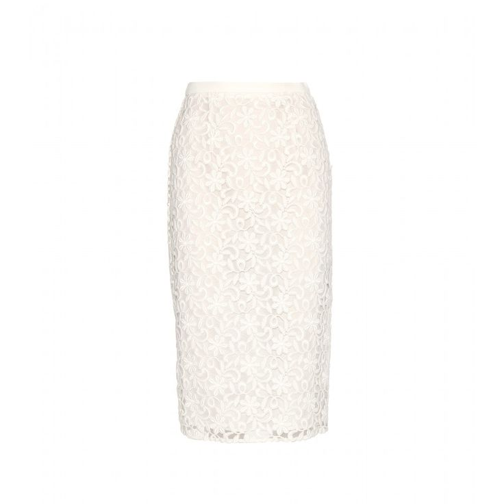 Burberry London - Lace skirt - Turn to timeless essentials with lasting appeal, like this cream pencil skirt from Burberry London. Crafted from Italian floral lace on silk organza, it's meant for a tight fit. Let it brighten up your capsule collection, summer or winter, and style with heels for the most flattering silhouette. seen @ www.mytheresa.com