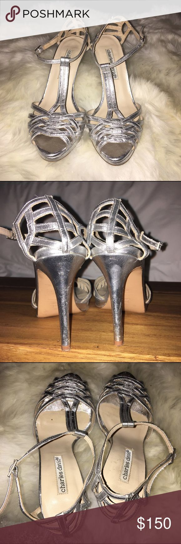 Silver CHARLES DAVID pumps Silver CHARLES DAVID pumps. Work once for an hour. Like brand new. Charles David Shoes Heels