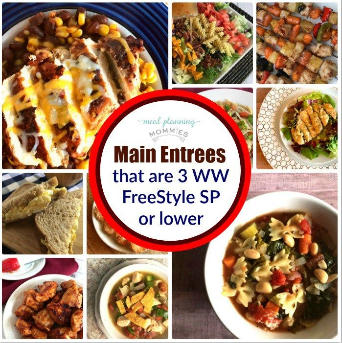 Best 25 weight watchers meal plans ideas on pinterest for List of entree dishes
