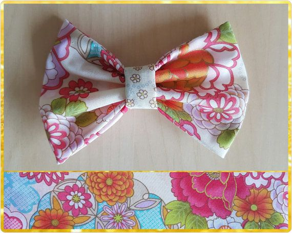 Check out this item in my Etsy shop https://www.etsy.com/au/listing/474838952/cream-floral-hair-bow-flower-bow-floral