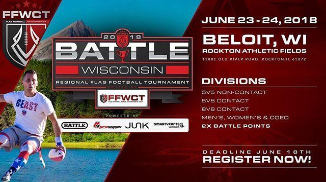 Battlewisconsin Registration Is Open Ffwct Flagfootball Battlecircuit Ffwctregionals Football Wisconsin Flag Football Football Tournament Football