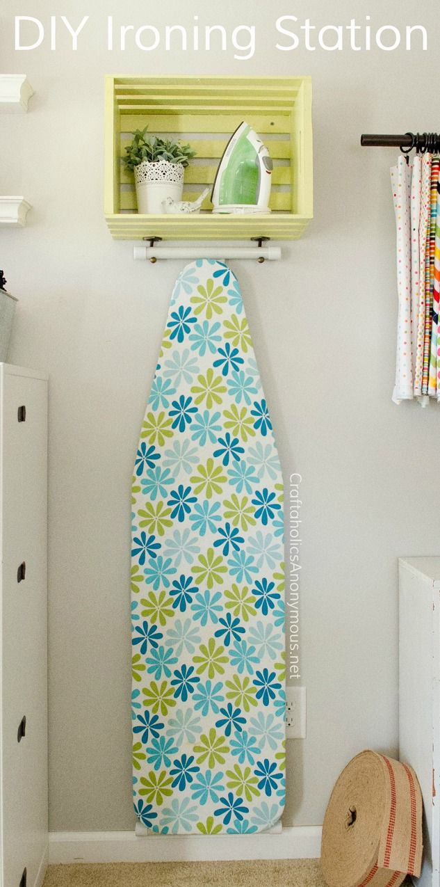 This DIY ironing station tutorial from Blogger Linda, of Craftaholics Anonymous,  will add a new sense of style to your laundry room while helping to keep it organized too. For the brightest colors, use your favorite shade of BEHR Paint to decorate a plain wooden crate that you can use to store all your ironing supplies. You can even personalize this easy craft with your favorite color palette and small decorations.