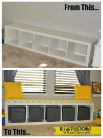 Love the makeover - storage and seating.