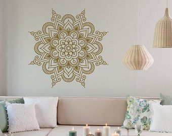 Mandala Wand Aufkleber Schlafzimmer  Mandala Vinyl von HomyVinyl