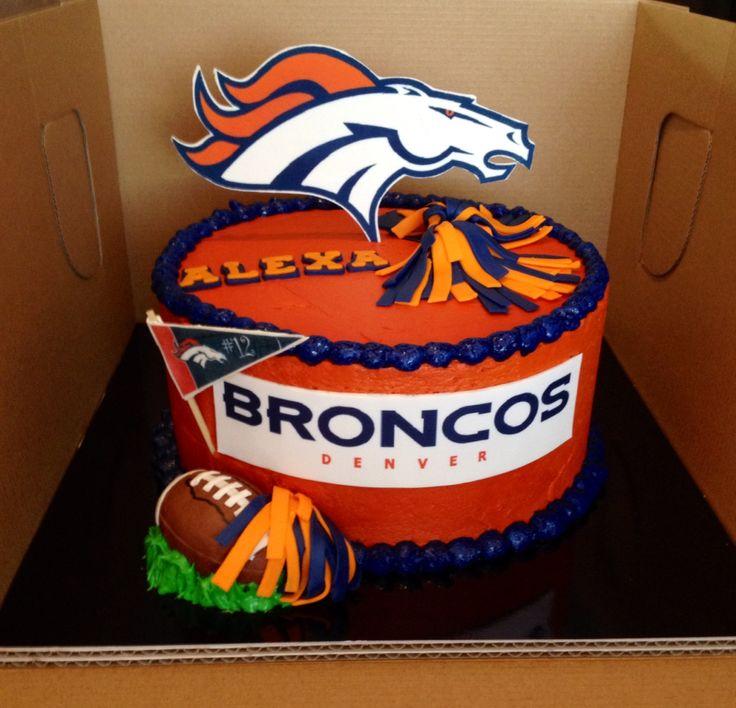 Best 25+ Denver Broncos Cake Ideas On Pinterest