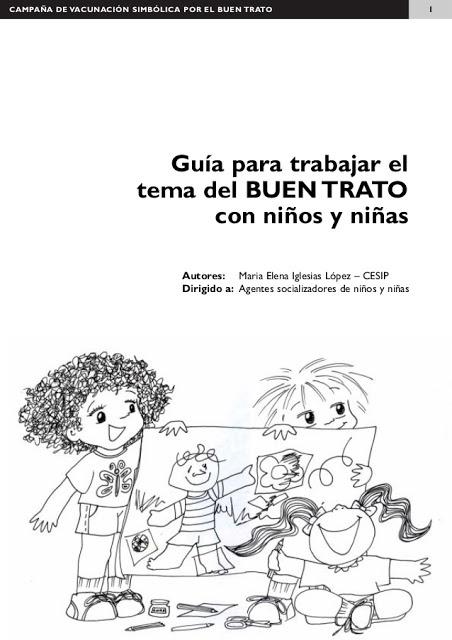 GUIA PARA TRABAJAR EL BUEN TRATO CON NIÑOS