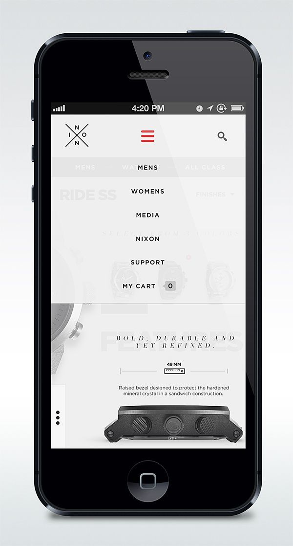 78 best images about mobile menu ui on pinterest app design ios 7 design and design process - Pinterest mobel ...