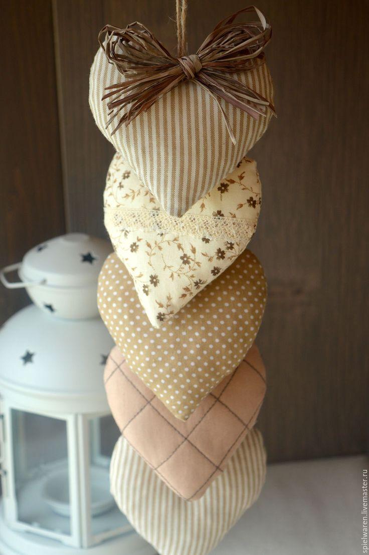 Купить Подвеска сердечная в стиле бохо - коричневый, новогодние украшения, новогодний подарок, новогодний сувенир