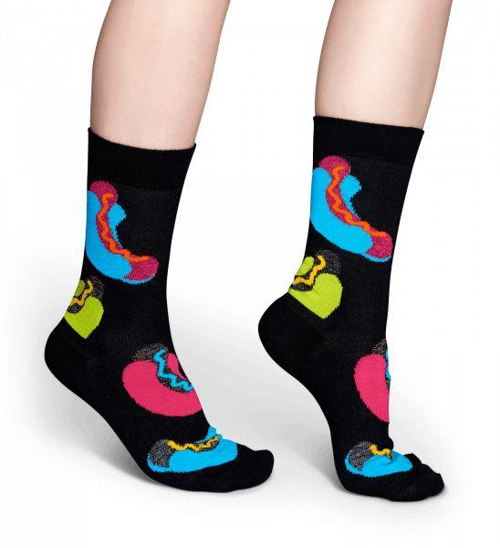 Vem sa att man inte kan ha på sig mat? Dessa Hotdog Socks ingår i Special Special-kollektionen och pryds av flerfärgade varma korvar, bröd och smaktillsatser. Tillverkade i en blandning av kammad bomull, Lurex och elastan kramar dessa glistrande strumpor mjukt om dina fötter. Som en del av Special Special-linjer är strumporna bara tillgängliga under en begränsad tid. Tillgängliga i olika storlekar.