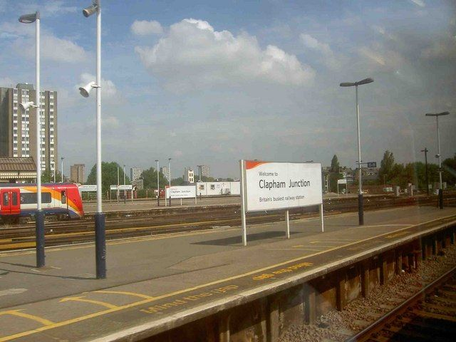 Clapham Junction Railway Station (CLJ) in Battersea, Greater London