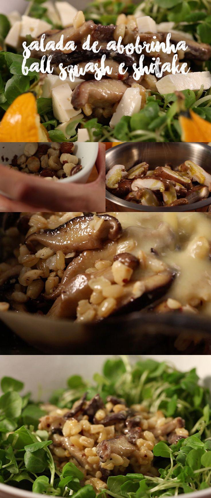 Receita deliciosa de salada de abobrinha com shitake, além de ser riquíssima em sabor, é tão nutritiva que vale como uma refeição. Veja mais receitas em www.myyellowpages.com.br
