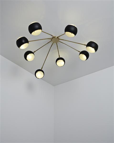 :: Angelo Lelli, Ceiling light, ca. 1955 ::