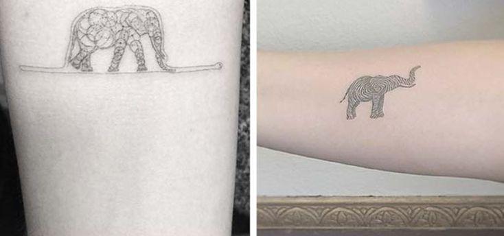 Foto tatuaggi Elefante