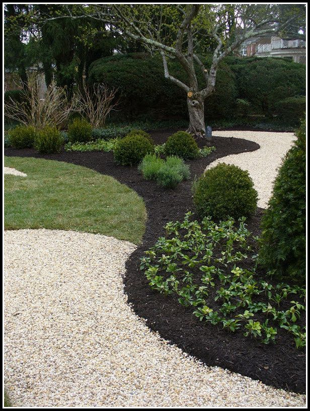Having The Most Green From The Garden Special Garden Design Mulch Landscaping Front Yard Landscaping Stone Landscaping