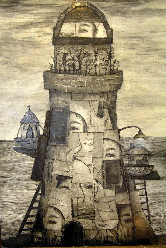Deborah Perrow - Sea Stories 1 - mixed media collage - 'Sea Stories' 14 May to 7 June 2015, Strathnairn Arts