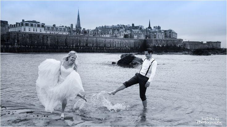 photo-mariage-romantique-saint malo-plage-mariage-amour-insolite-original- Judith G. ByGaïa photographe- Galerie photos mariage - Photographe mariage rennes judith gouebault