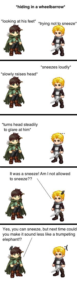 "No Sneezing (an RA tektek comic) by Lil-Treaty on deviantART. This part was so funny! and then when the guards were like ""What was that?"" ""Don't know, but it sounded like a wounded animal."""