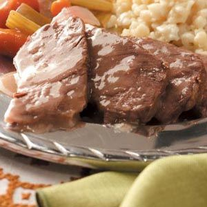 Easy Sauerbraten Recipe from Taste of Home -- shared by Patricia Rutherford of Winchester, Illinois  #Oktoberfest