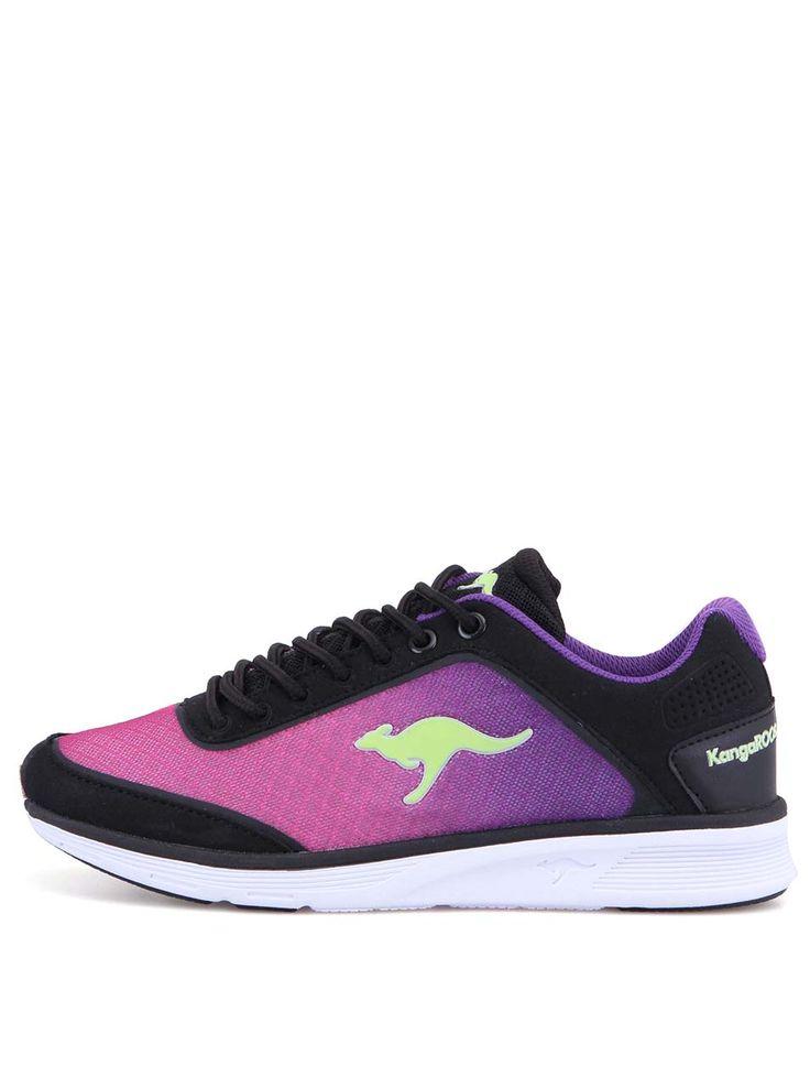 Čierno-fialové dámske športové tenisky KangaROOS BlueLight 52,95€ -> 42,95€
