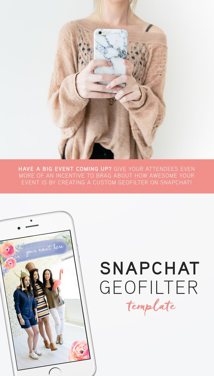 Have a big event coming up? Give your attendees even more of an incentive to brag about how awesome your event is by creating a custom geofilter on Snapchat! Download our template, make it your own by changing the title, and submit it to Snapchat for approval! Happy snapping!