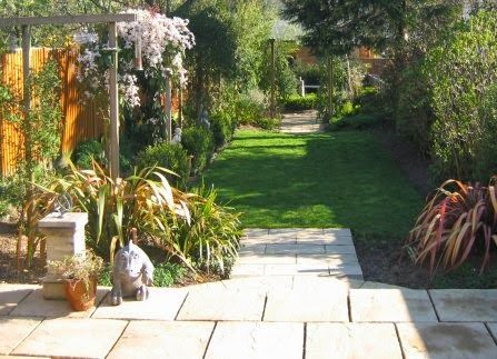 plans for a long narrow garden yahoo image search results - Garden Design Long Narrow