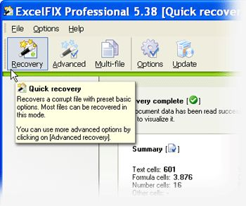Recover succeed data - obtaining your data back in one piece.