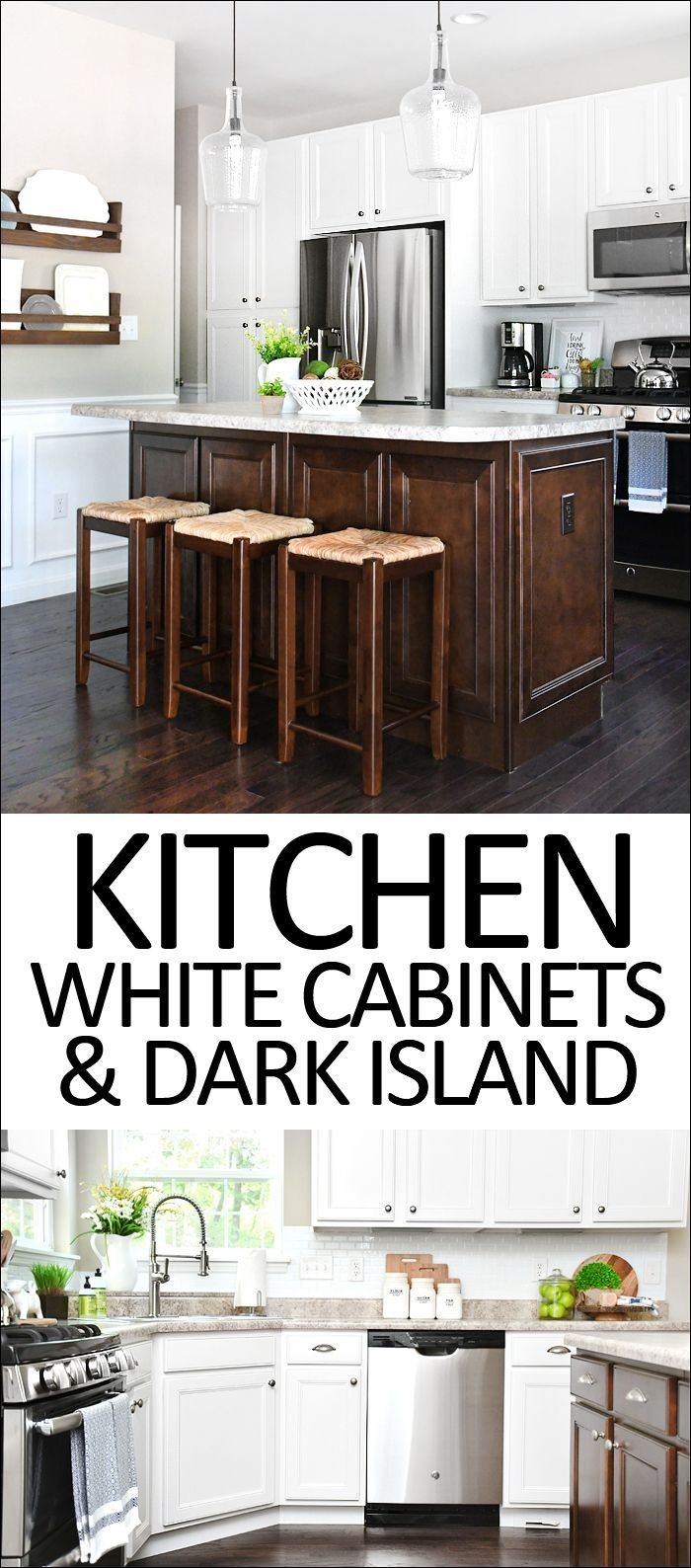 White cabinets dark kitchen island for your home home decor and
