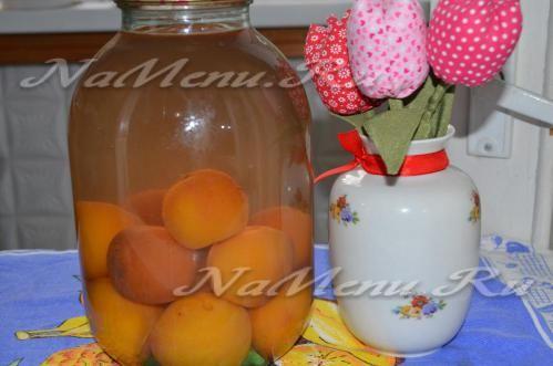 Персиковый компот без воды