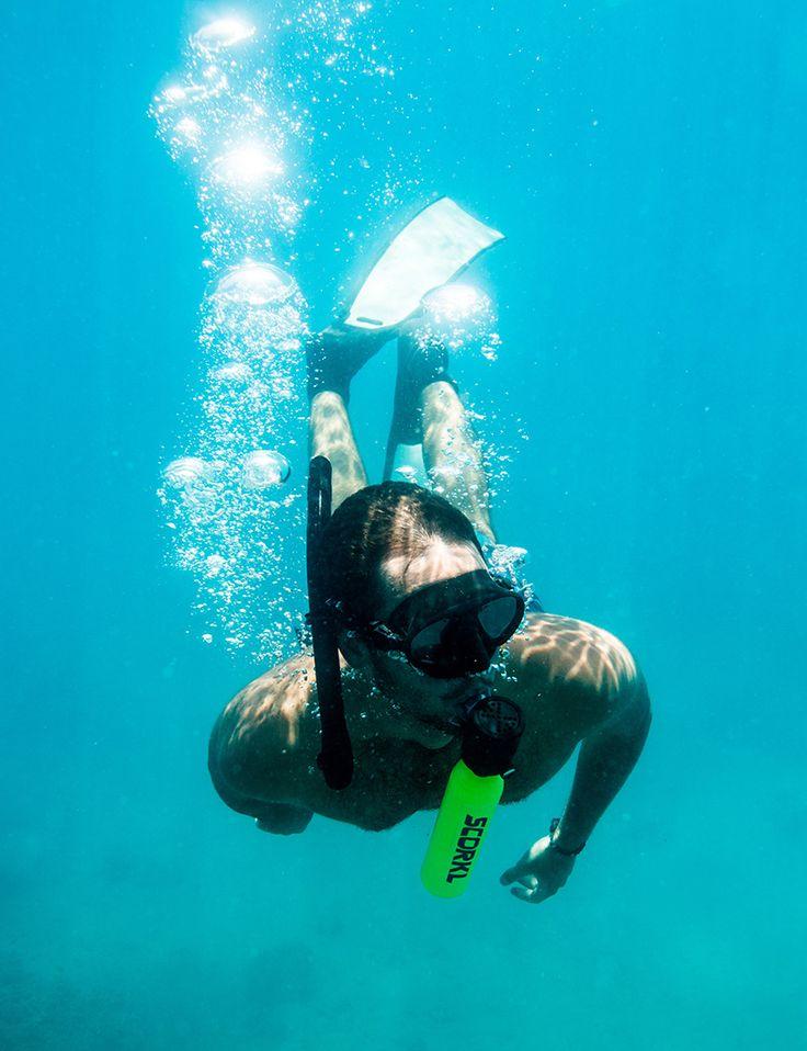 The Scorkl Pump Up Diving Device Lets You Breathe