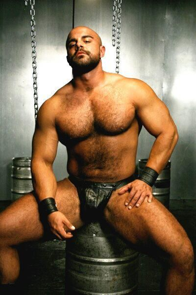 Hot Sexy Gay Men Male Muscles Leather Bondage Kinky Hairy -6568
